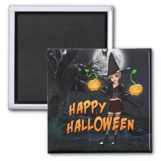 Aimant heureux de Halloween Skye