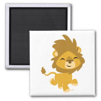 Aimant heureux de lion de bande dessinée