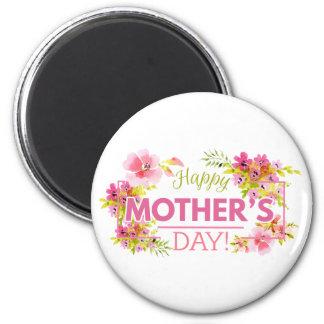Aimant heureux floral élégant du jour de mère |