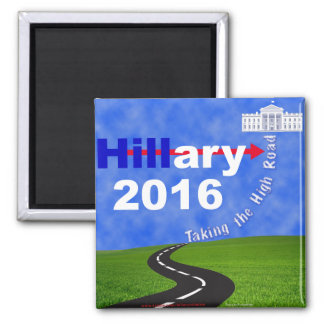 Aimant Hillary Clinton prenant la haute route