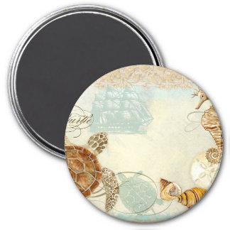 Aimant Hippocampe de tortue de collage de bord de la mer