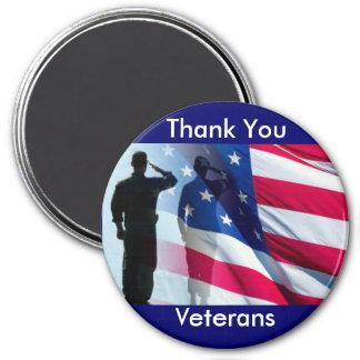 Aimant Hommage de militaires de vétérans de Merci