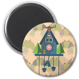 Aimant Horloge de coucou avec le papier peint de tortue
