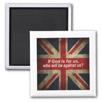 Aimant If God is for us Drapeau Anglais