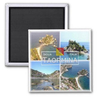 Aimant IL l'Italie # - la Sicile - Taormina - Isola Bella