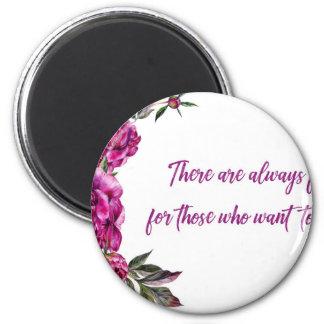 Aimant Il y a toujours des fleurs