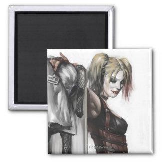 Aimant Illustration de la ville | Harley Quinn de Batman