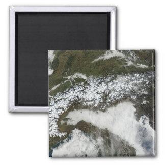 Aimant Image satellite de la gamme de montagne d'Alpes