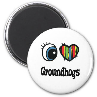 Aimant J'aime (coeur) Groundhogs