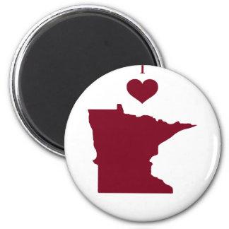 Aimant J'aime (coeur) le Minnesota