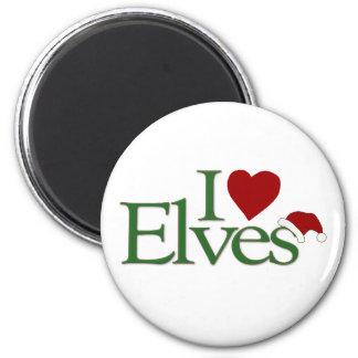 Aimant J'aime des elfes