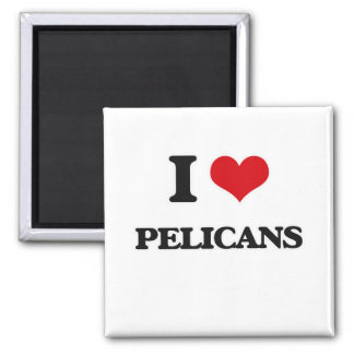 Aimant J'aime des pélicans