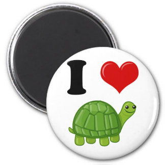 Aimant J'aime des tortues