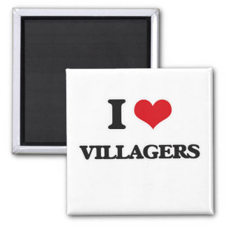 Aimant J'aime des villageois