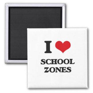 Aimant J'aime des zones d'école