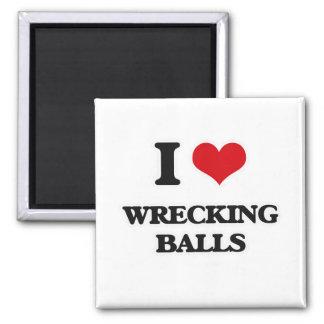 Aimant J'aime détruire des boules