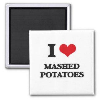 Aimant J'aime la purée de pommes de terre