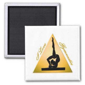 Aimant j'aime la triangle #6 de gymnastique
