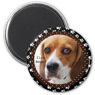 Aimant J'aime l'aimant de beagles