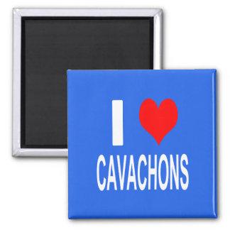 Aimant J'aime l'aimant de Cavachons, chien