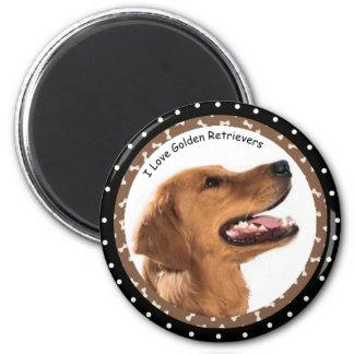 Aimant J'aime l'aimant de chiens d'arrêt d'or