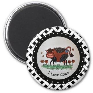 Aimant J'aime l'aimant de vaches