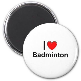 Aimant J'aime le badminton de coeur