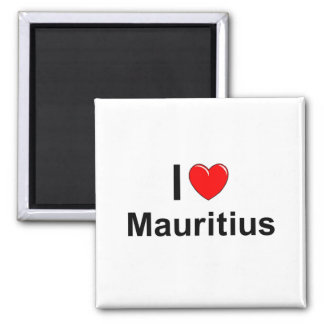 Aimant J'aime le coeur Îles Maurice