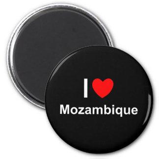 Aimant J'aime le coeur Mozambique
