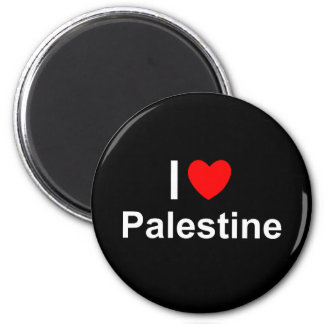 Aimant J'aime le coeur Palestine