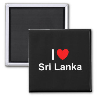 Aimant J'aime le coeur Sri Lanka