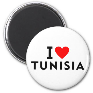 Aimant J'aime le pays de la Tunisie comme le tourisme de