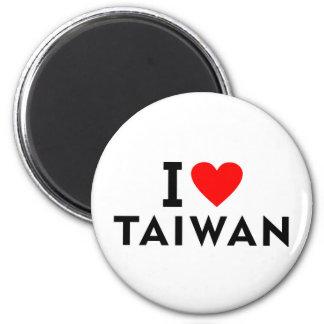 Aimant J'aime le pays de Taïwan comme le tourisme de