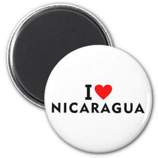Aimant J'aime le pays du Nicaragua comme le tourisme de