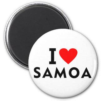 Aimant J'aime le pays du Samoa comme le tourisme de