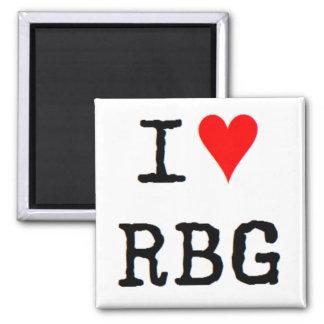 Aimant j'aime le rbg