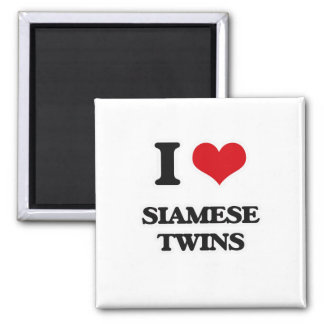 Aimant J'aime les jumeaux siamois