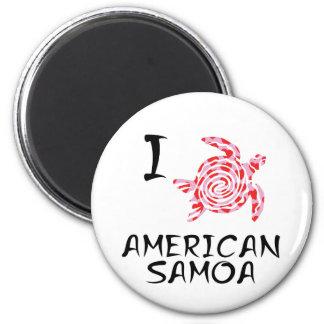 Aimant J'aime les Samoa américaines