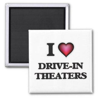 Aimant J'aime les théâtres drive-in