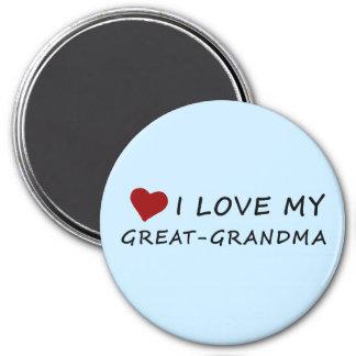 Aimant J'aime ma Grand-Grand-maman avec le coeur