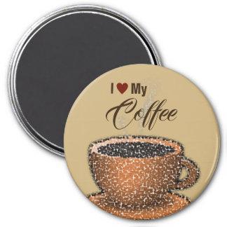 Aimant J'aime mon café