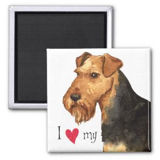 Aimant J'aime mon gallois Terrier