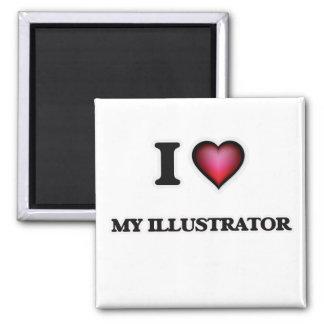 Aimant J'aime mon illustrateur