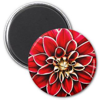 Aimant Jardin floral de fleurs de pétales de fleur de