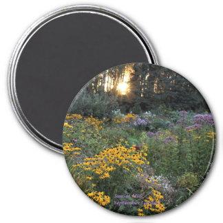 Aimant Jardins de coucher du soleil mi-septembre
