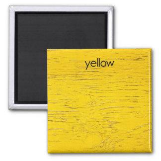 Aimant jaune de réfrigérateur