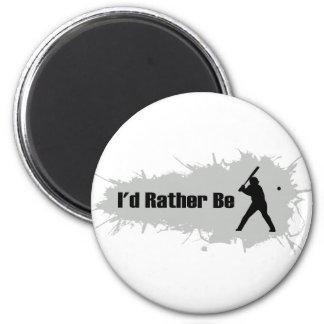 Aimant Je jouerais plutôt au base-ball