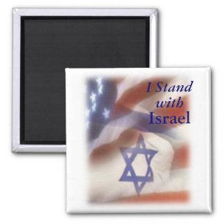 Aimant Je me tiens avec l'étoile de David de l'Israël sur