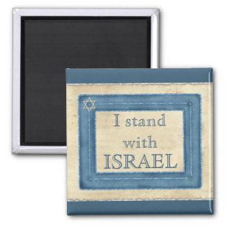 Aimant Je me tiens avec l'Israël