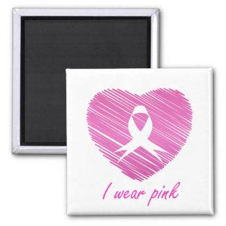 Aimant Je porte le symbole de conscience de cancer du